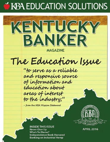 Kentuckybankermagazine april2016 by kentucky bankers association page 1 altavistaventures Choice Image