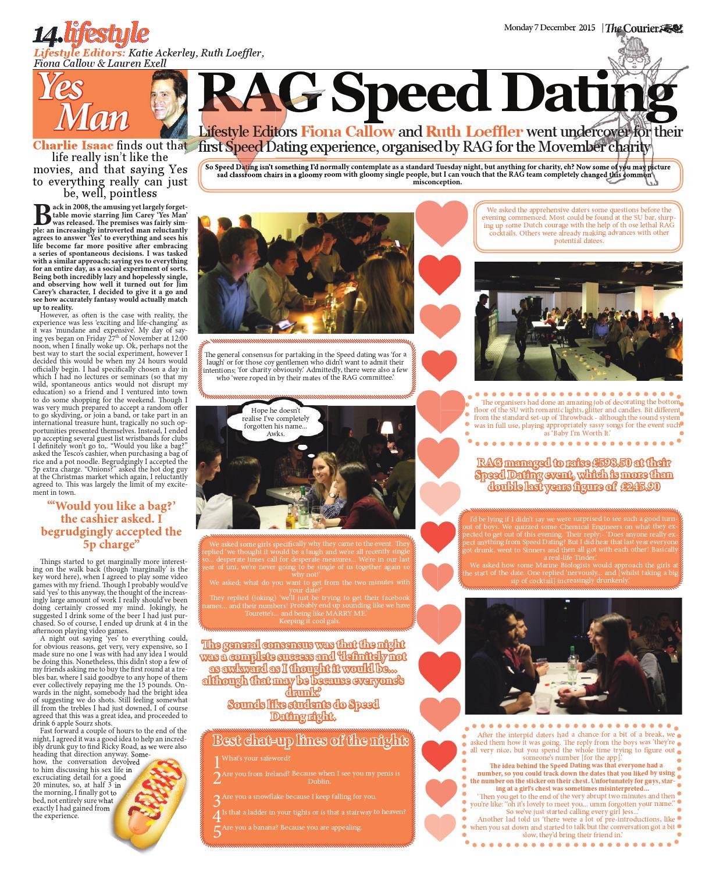 Rag speed dating