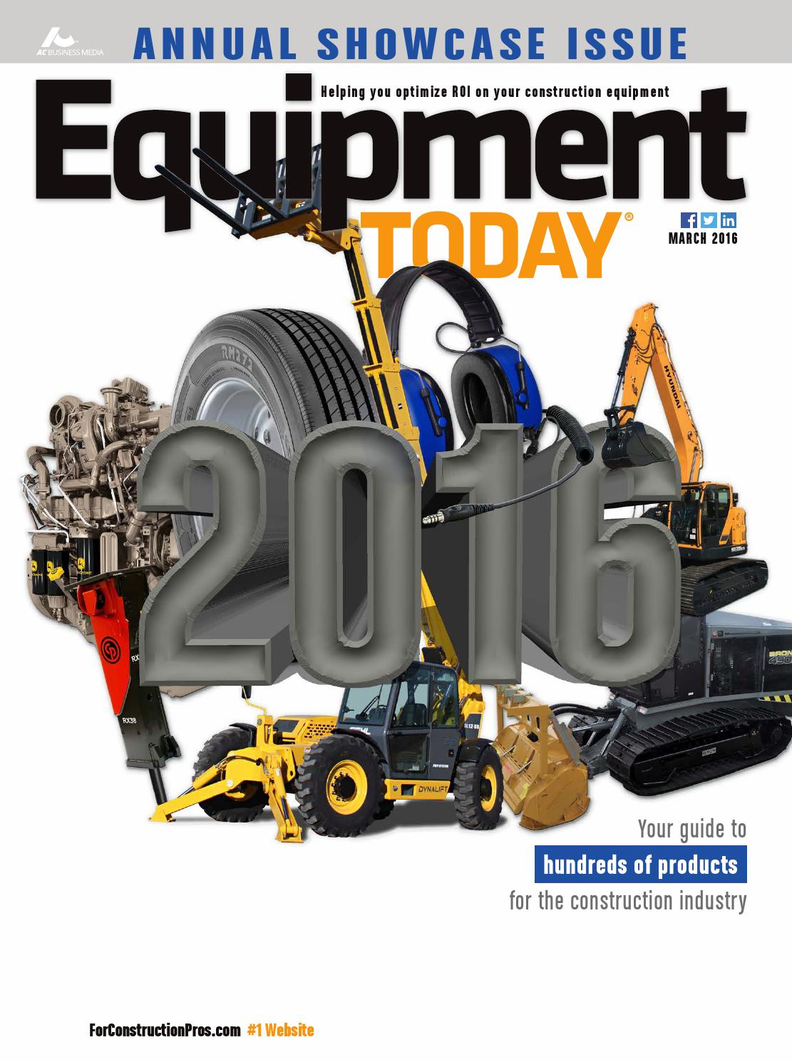 Equipment Today March 2016 By Forconstructionproscom Issuu 2000 Ford Focus Ke Booster Vacuum Line