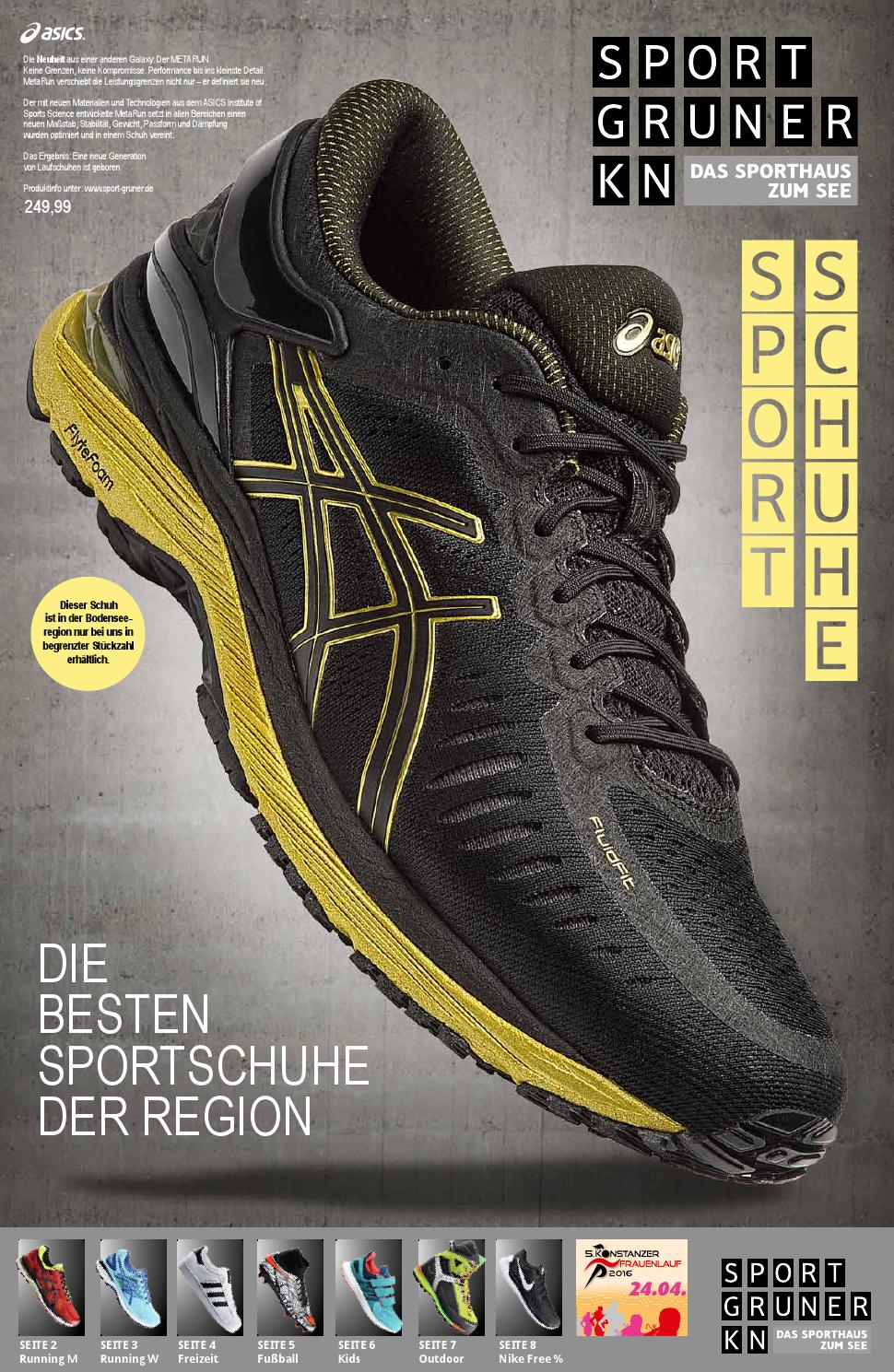 sportschuh prospekt by sport gruner issuu. Black Bedroom Furniture Sets. Home Design Ideas