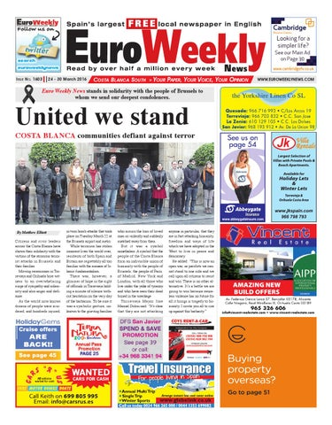 bc62fdbea5751 Euro Weekly News - Costa Blanca South 24 - 30 March 2016 Issue 1603 ...