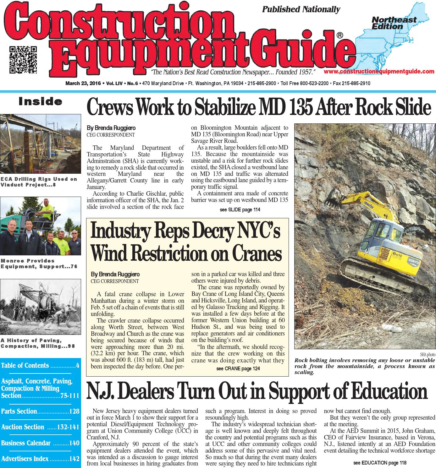 Northeast 06 2016 By Construction Equipment Guide Issuu Light To Frequency Converter Tsl220