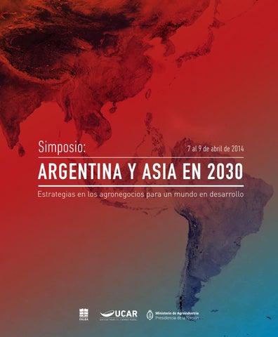 buy online fae65 ea579 Argentina y Asia en 2030 by Comunicación y Difusión UCAR - issuu