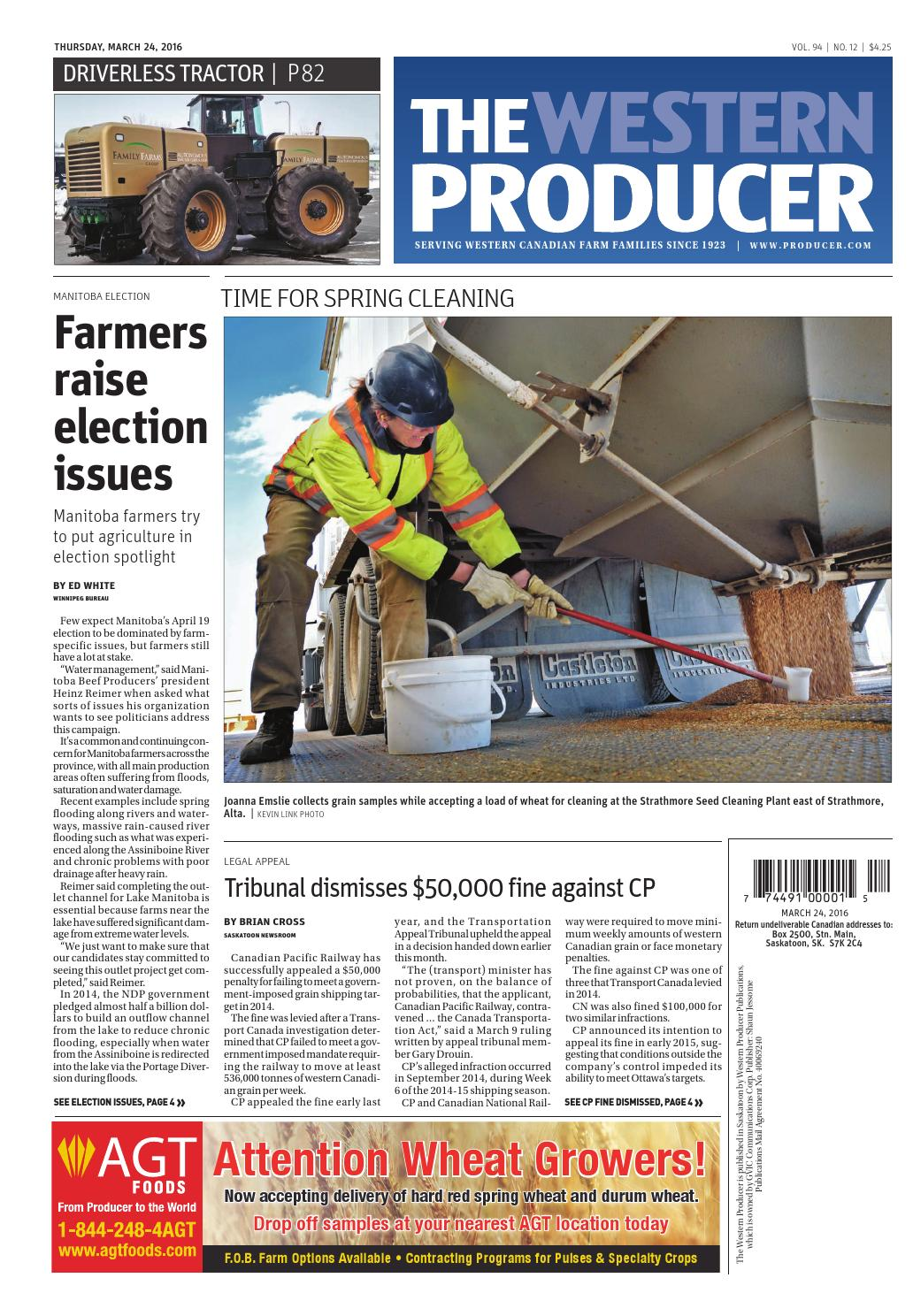 The Western Producer March 24 2016 By