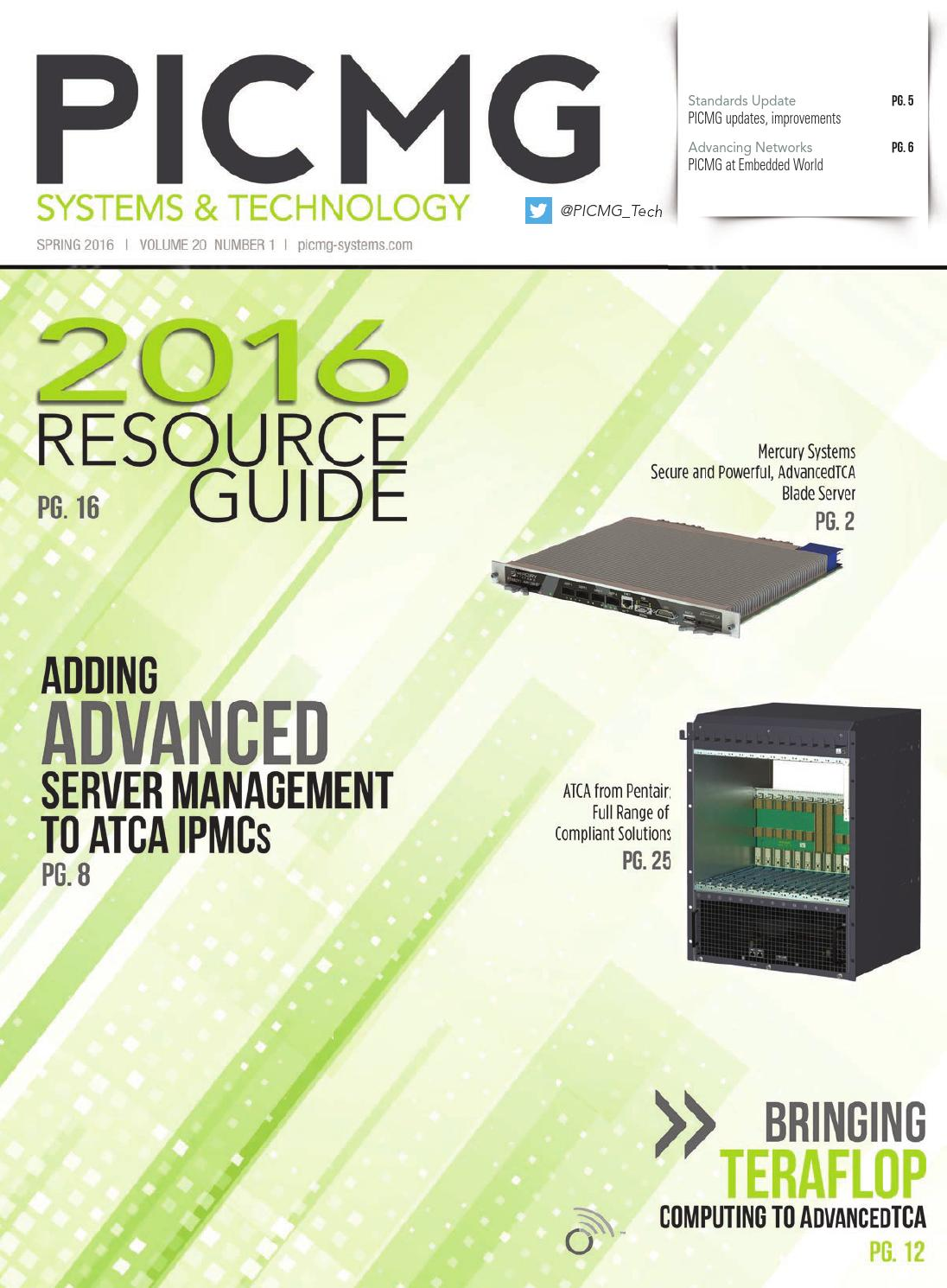 PICMG Systems & Technology Spring 2016 with Resource Guide