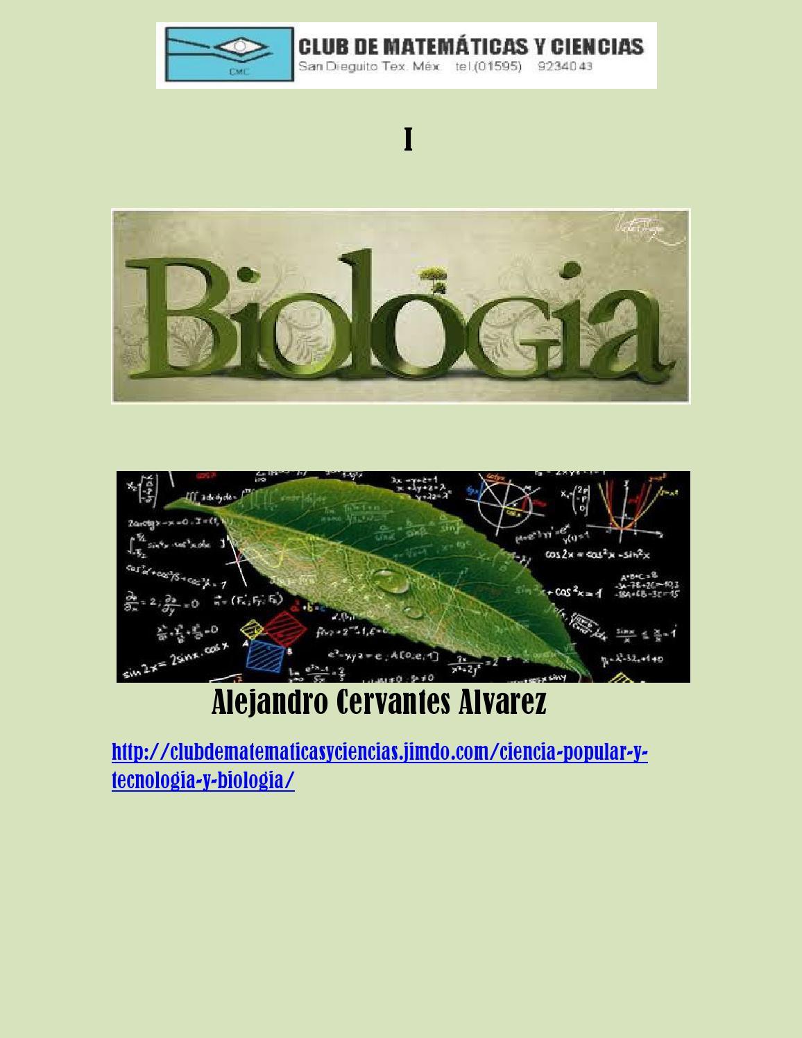 Biologia 1 by club de matemáticas y ciencias - issuu