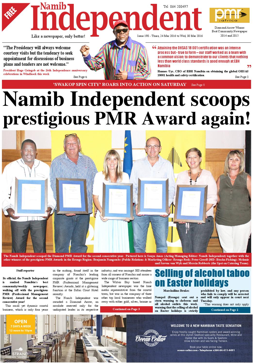 Namib independent issue 190 by The Namib Independent - issuu