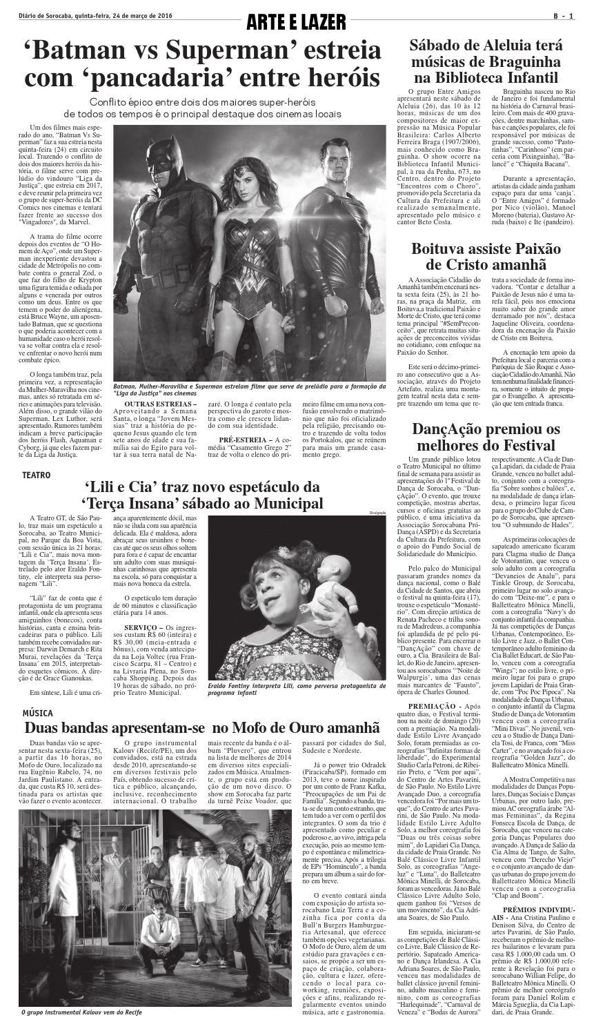 ac44ca83f88b3 Edição de 24 de março de 2016 by DIÁRIO DE SOROCABA - issuu