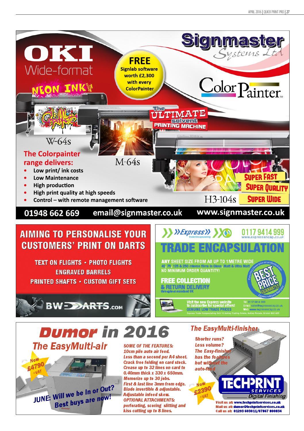 Quick Print Pro, April 2016 by The Magazine Production