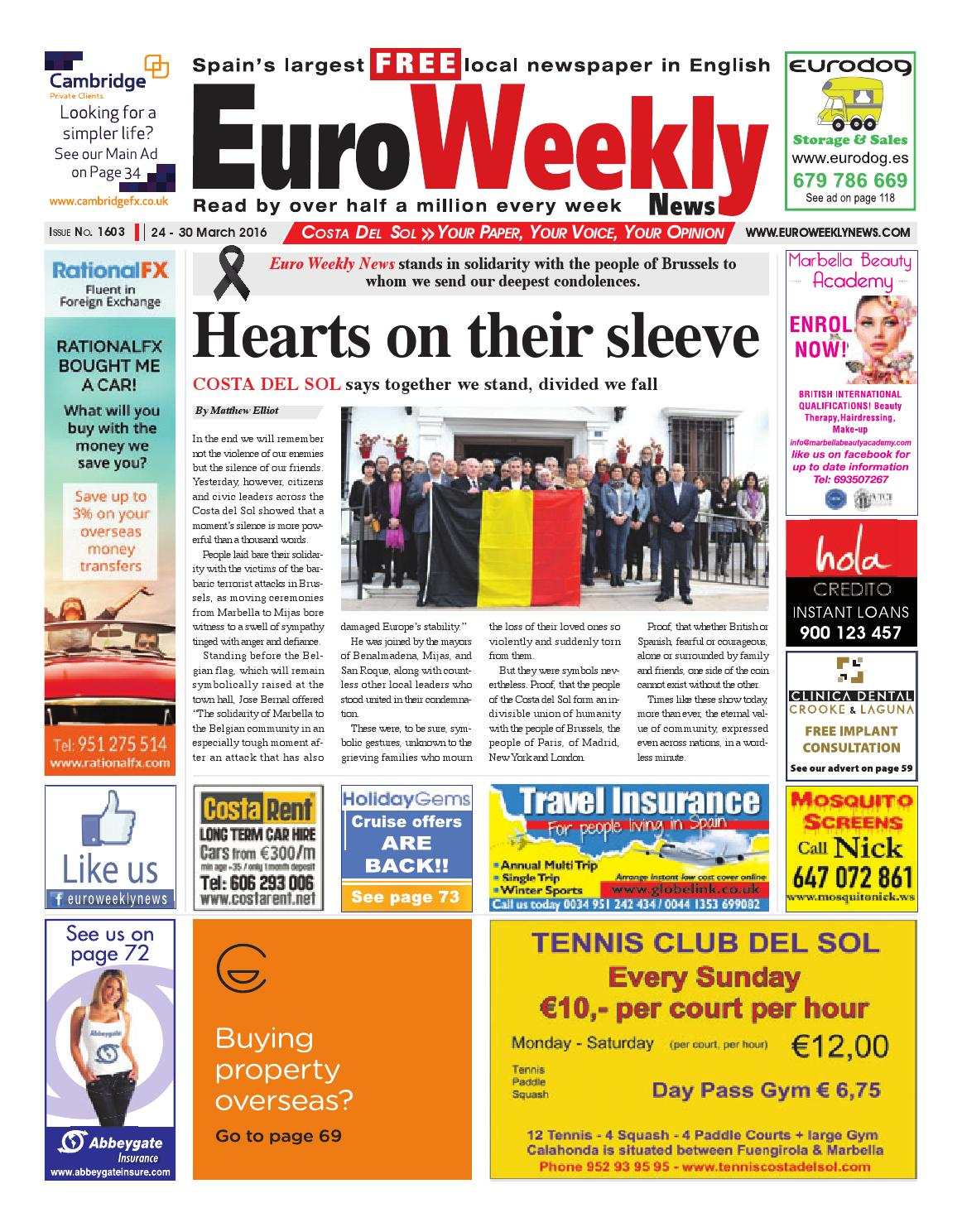 Euro weekly news costa del sol 24 30 march 2016 issue 1603 by euro weekly news costa del sol 24 30 march 2016 issue 1603 by euro weekly news media sa issuu fandeluxe Image collections