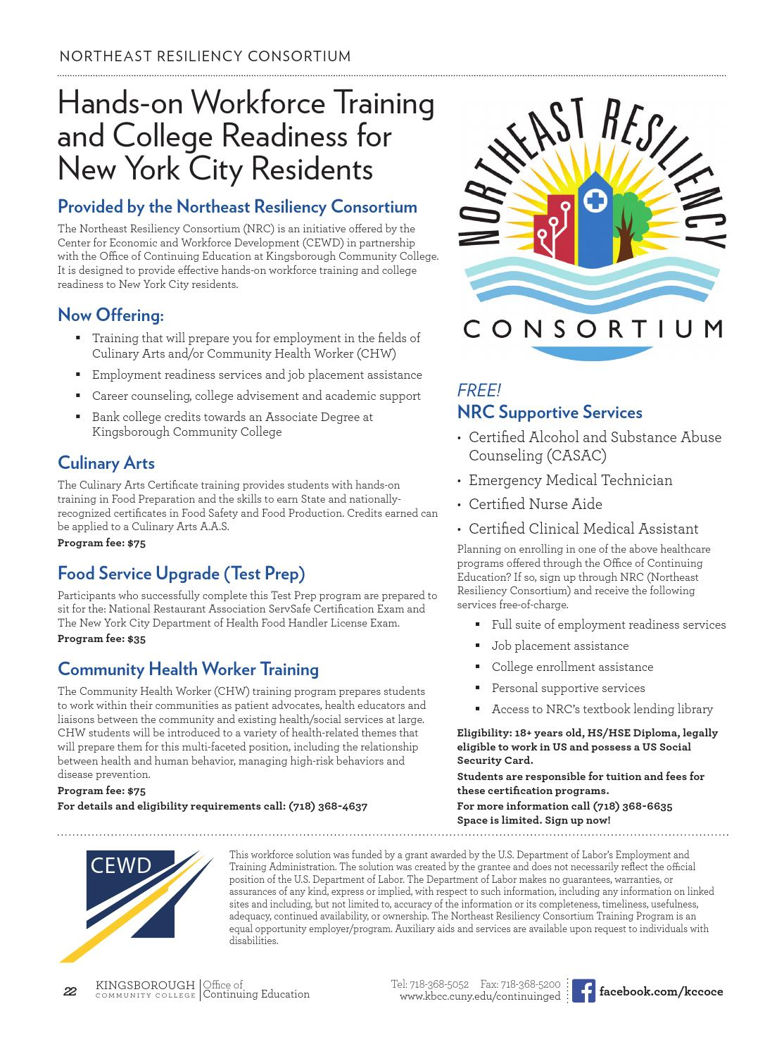 Continuing Education Spring 2016 By Kingsborough Office Of