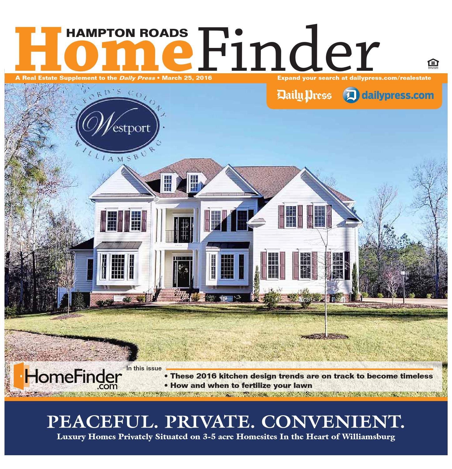 Home Finder For Rent: March 25, 2016 By Daily Press Media Group