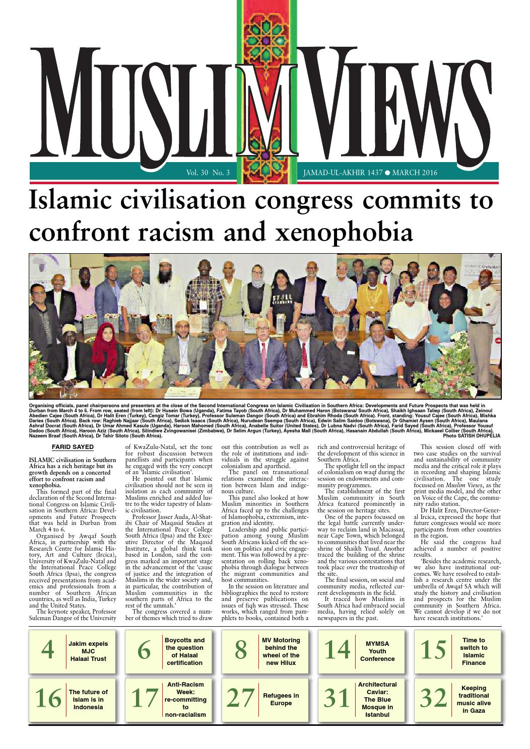 Muslim Views March 2016 By Issuu Stambul Qur An Mini 30 Juz