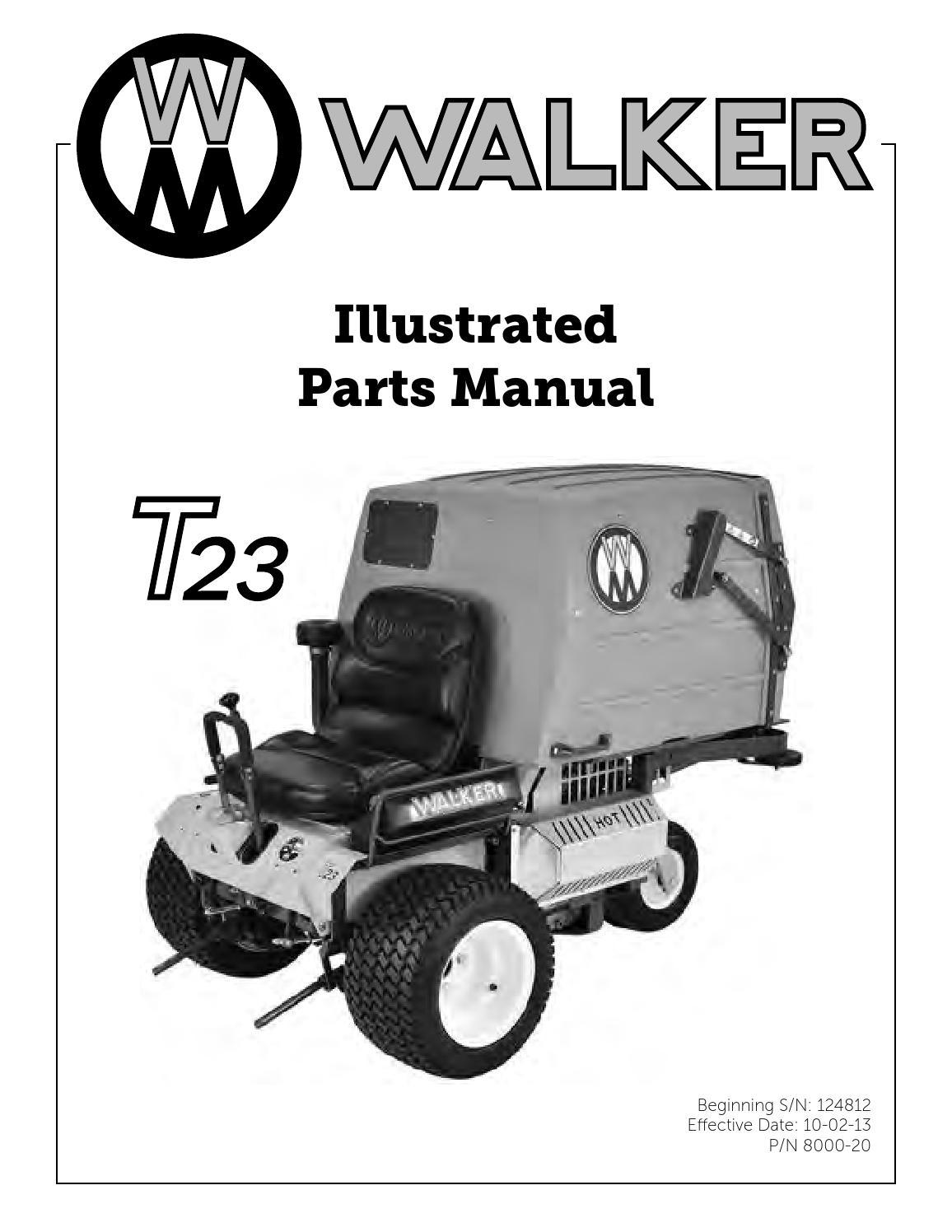 Ersatzteilliste Mt23  T23 By Walker Vertriebs Ag