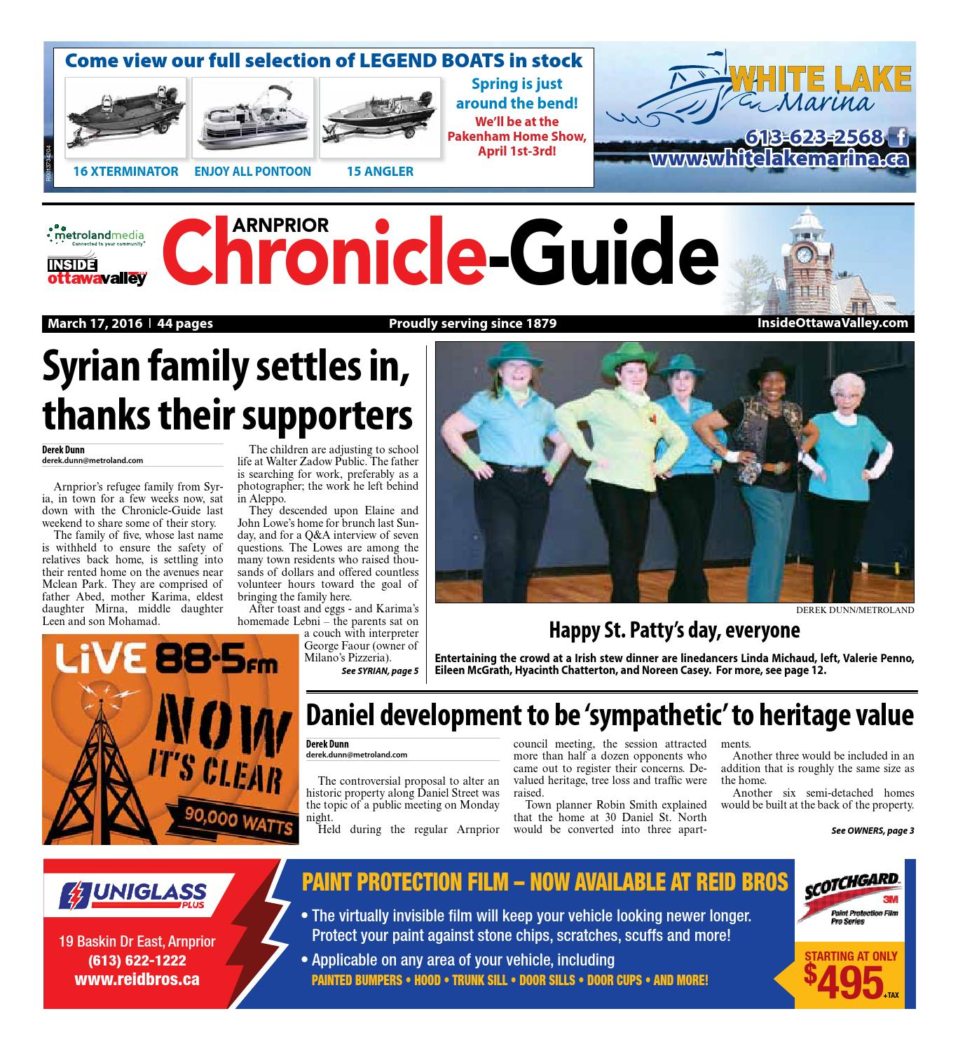Arnprior031716revised By Metroland East Arnprior Chronicle Guide