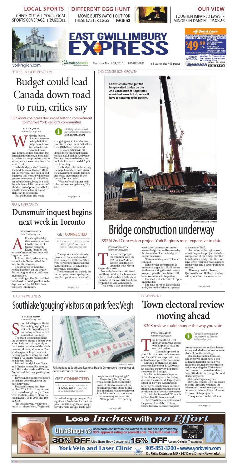 East Gwillimbury, March 24, 2016 by East Gwillimbury - issuu