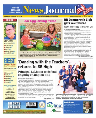 Rancho Bernardo News Journal03 24 16 By MainStreet Media Issuu