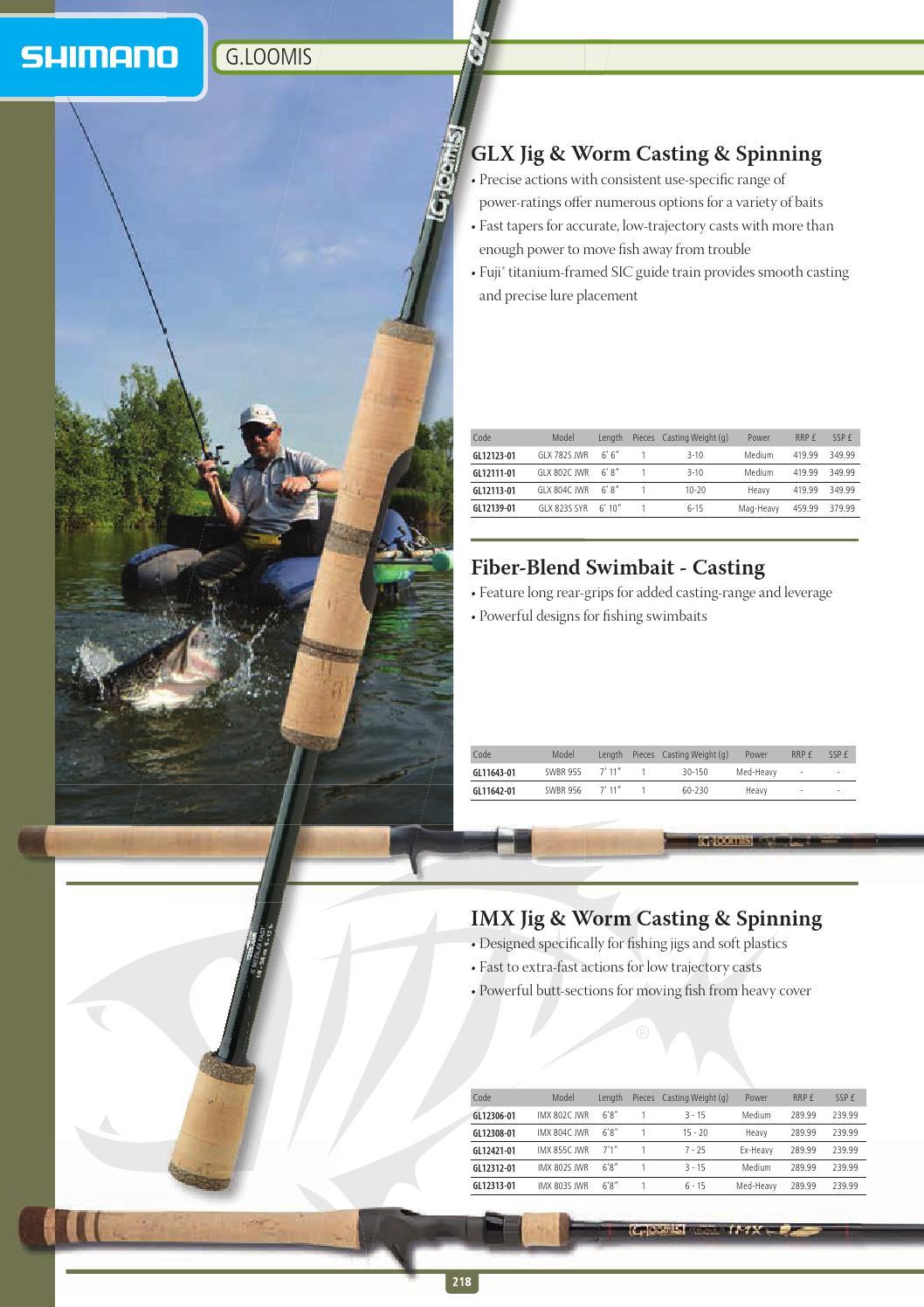Loomis Jig /& Worm GLX 802S JWR Spinning Rod NEW MODEL! G