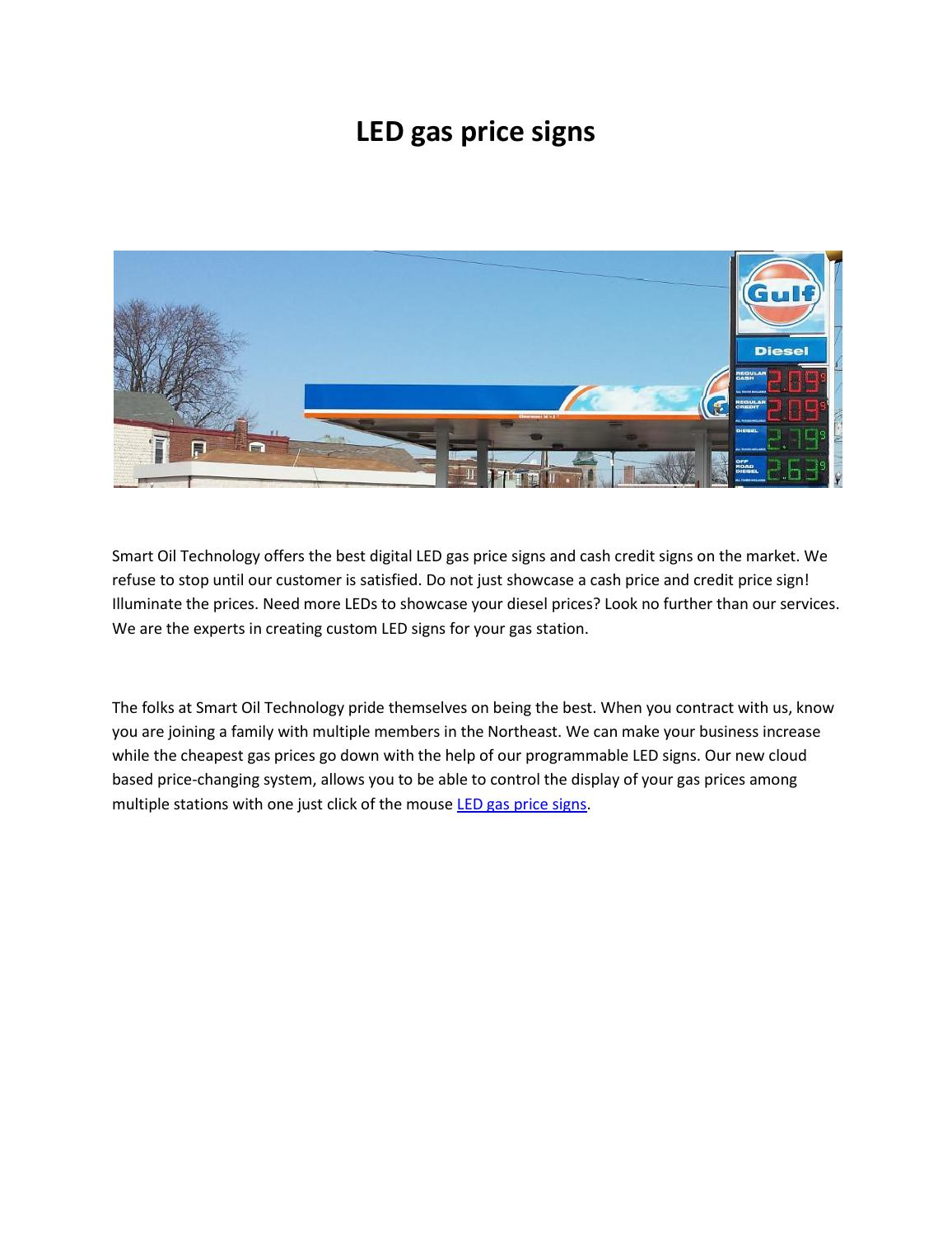 Led gas price signs by Stavin Bobby - issuu