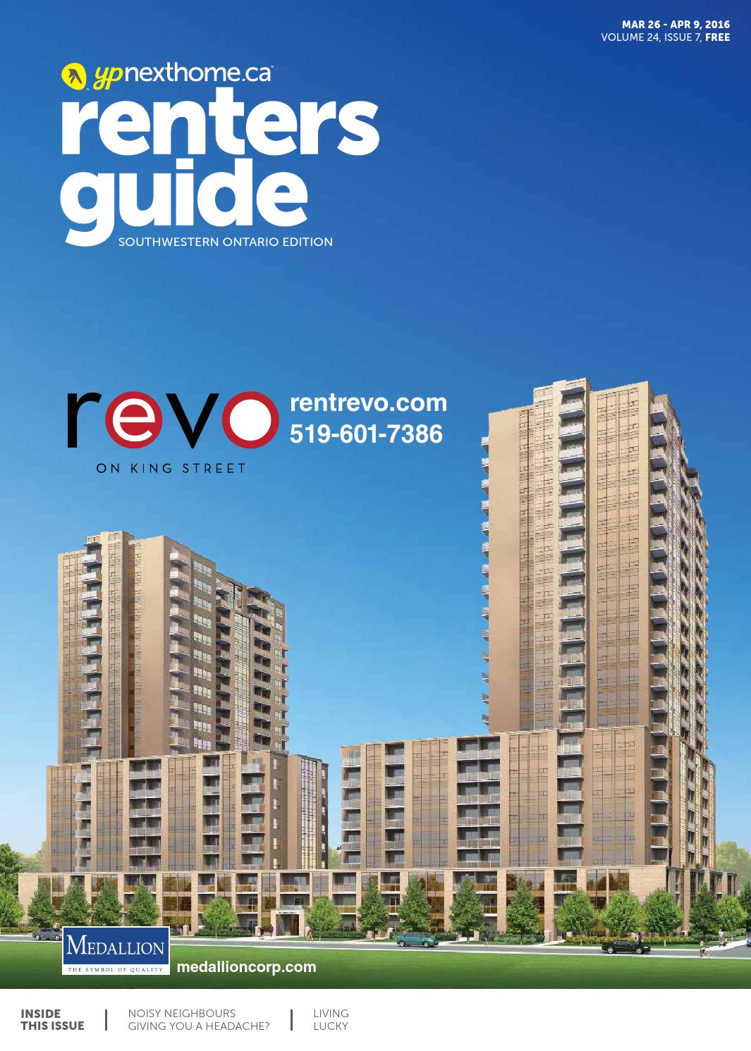 Southwestern Ontario Renters Guide - 26 Mar, 2016 by NextHome - issuu
