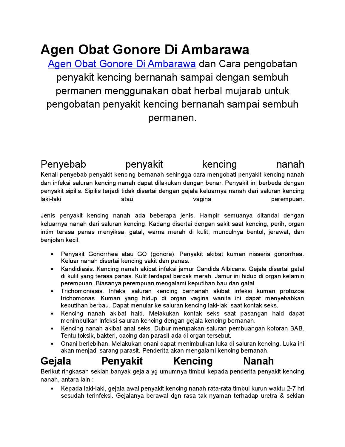 Agen Obat Gonore Di Ambarawa By Wahyu Kris Issuu Sakit Go Sipilis Raja Singa Isk