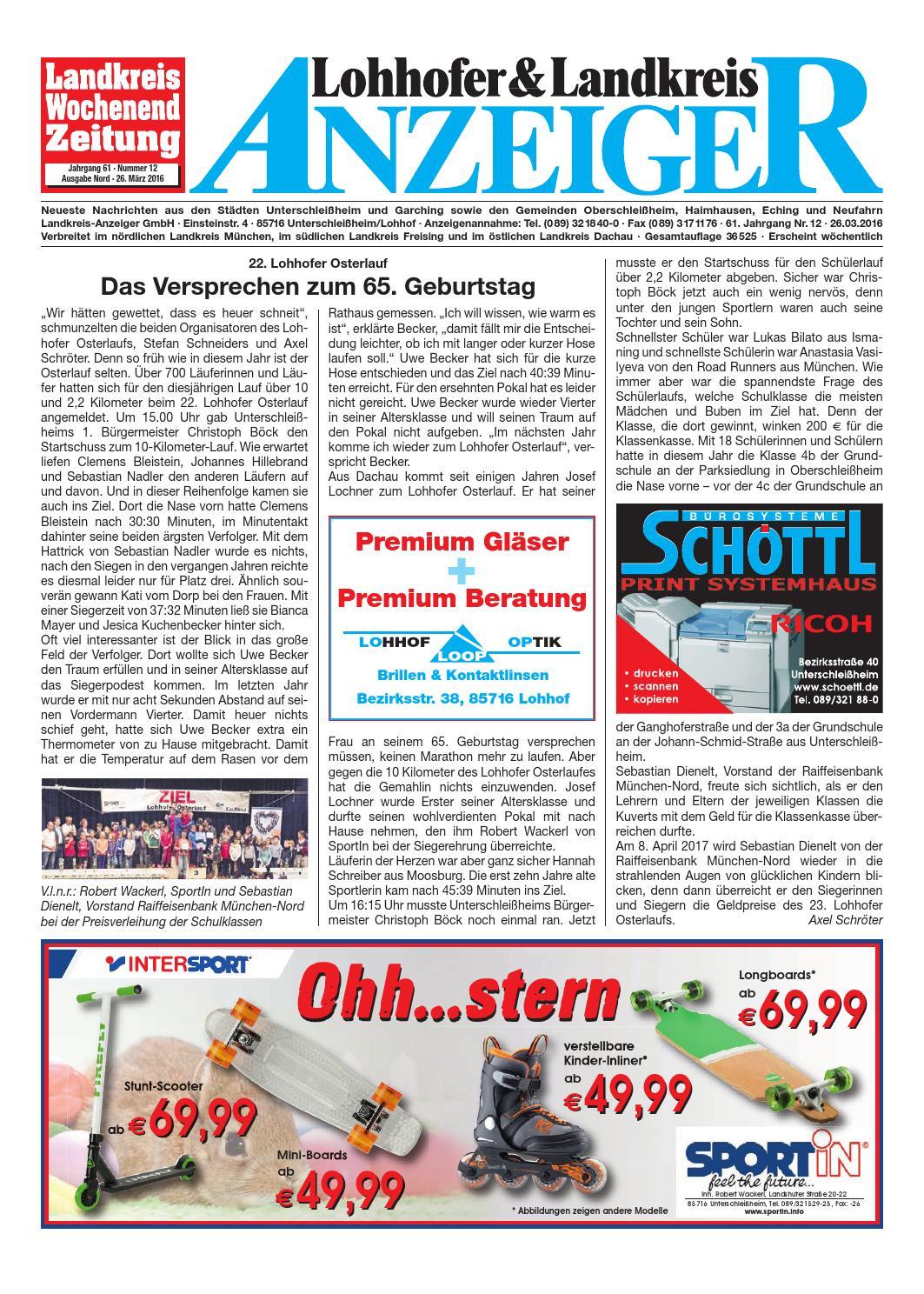Lohhofer & Landkreis Anzeiger 1216 by Zimmermann GmbH Druck & Verlag ...