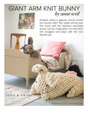 Page 1 of Giant Arm Knit Bunny