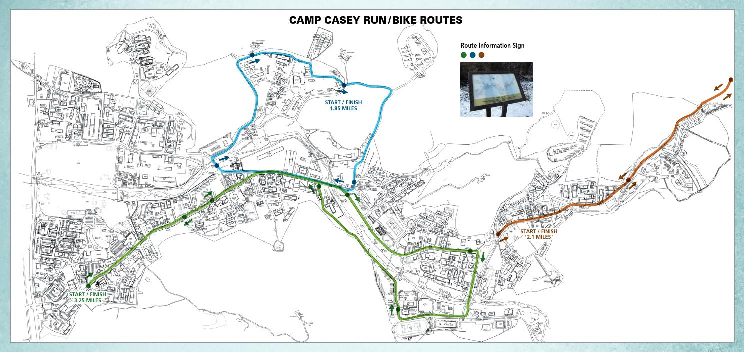 Camp Casey Hovey Run Amp Bike Routes By Usag Red Cloud Fmwr