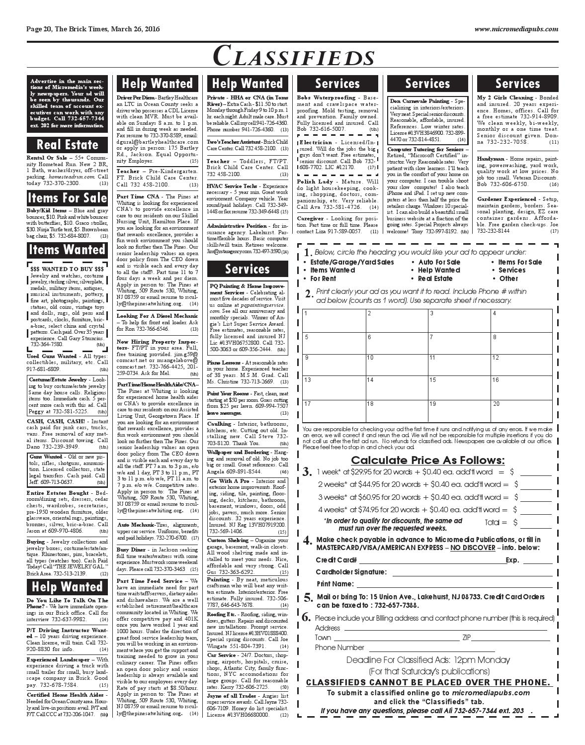 2016-03-26 - The Brick Times by Micromedia Publications