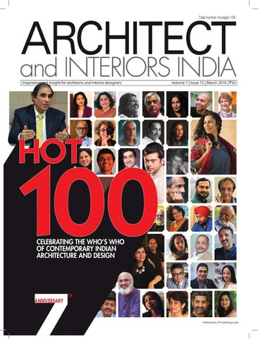 Total Number Of Pages 156 Inspiration And Insight For Architects Interior Designers