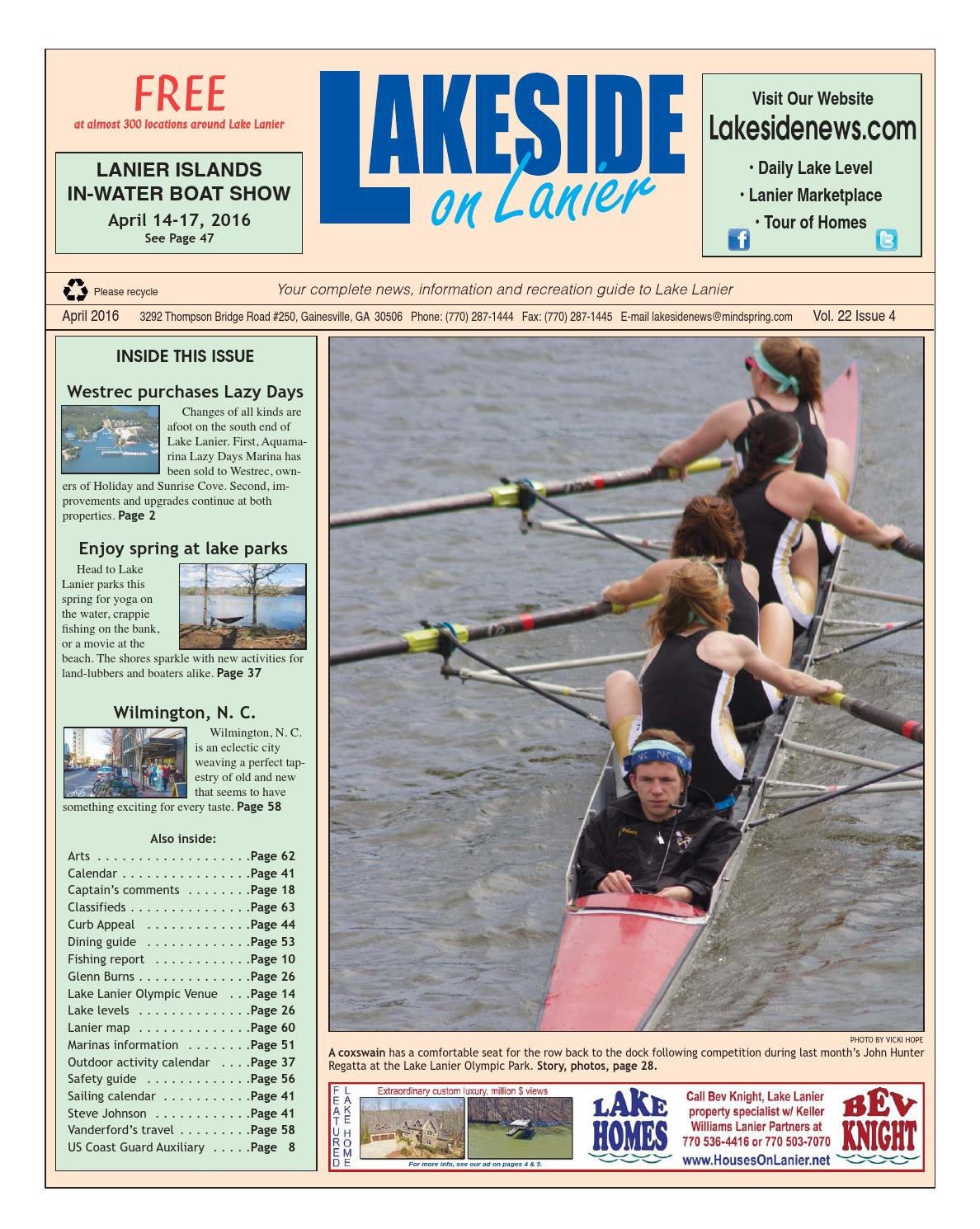 Lakesideonlanierapril2016 By Lanier Publishing Inc