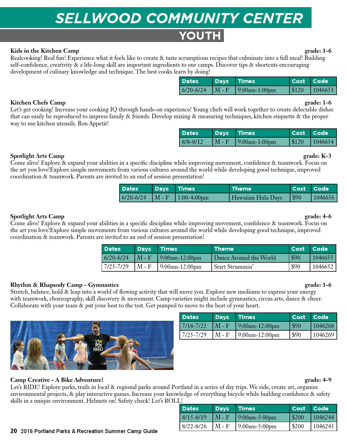 2016 Summer Camp Guide by Portland Parks & Recreation - issuu