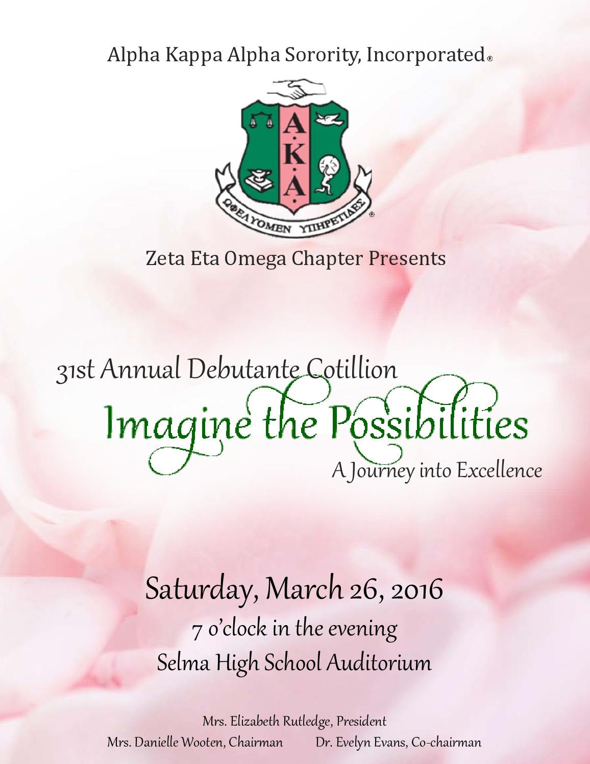 Alpha Kappa Alpha Sorority, Inc. Zeta Eta Omega Chapter - 31st ...