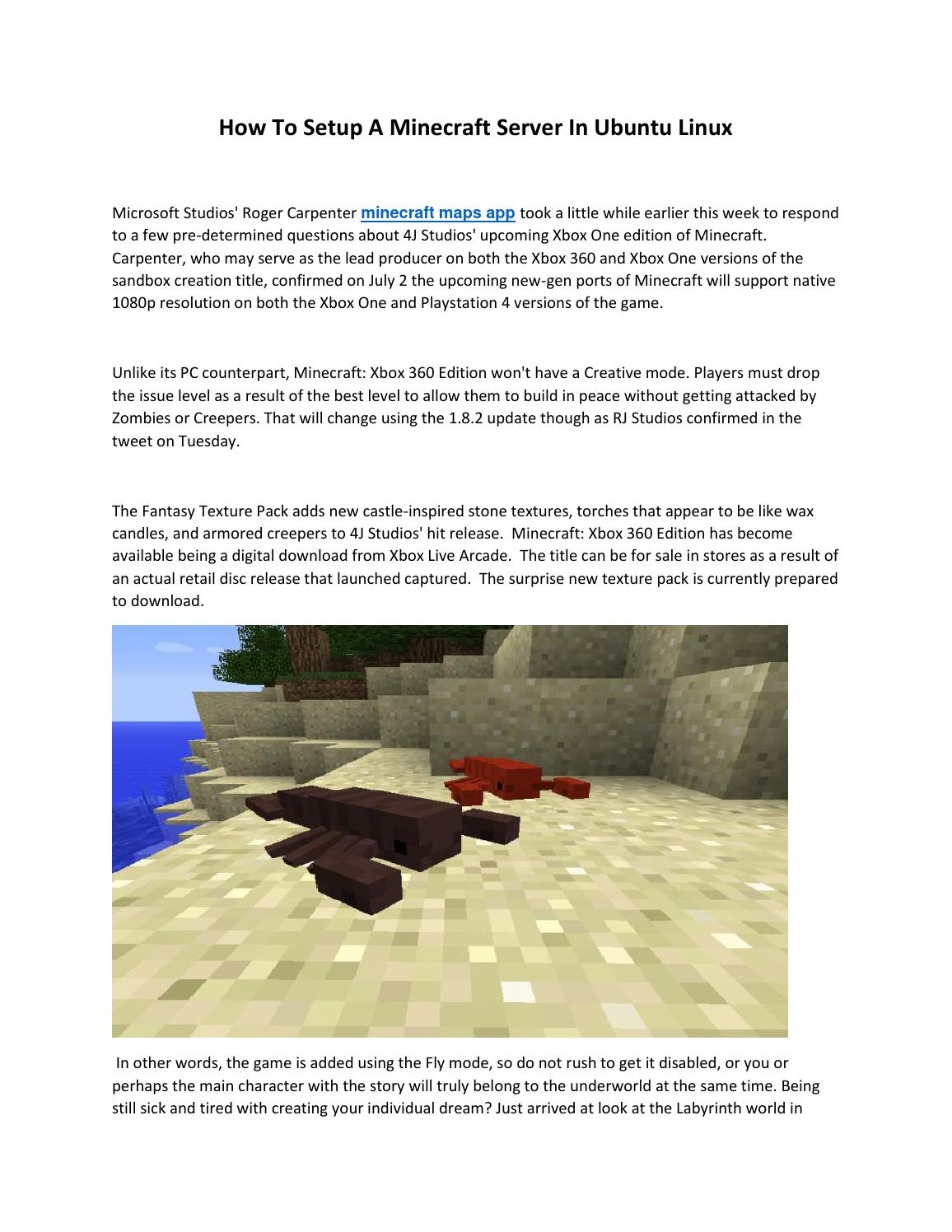 How To Setup A Minecraft Server In Ubuntu Linux By Nguyen Quang Dai Issuu