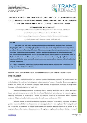 psychological contract master thesis