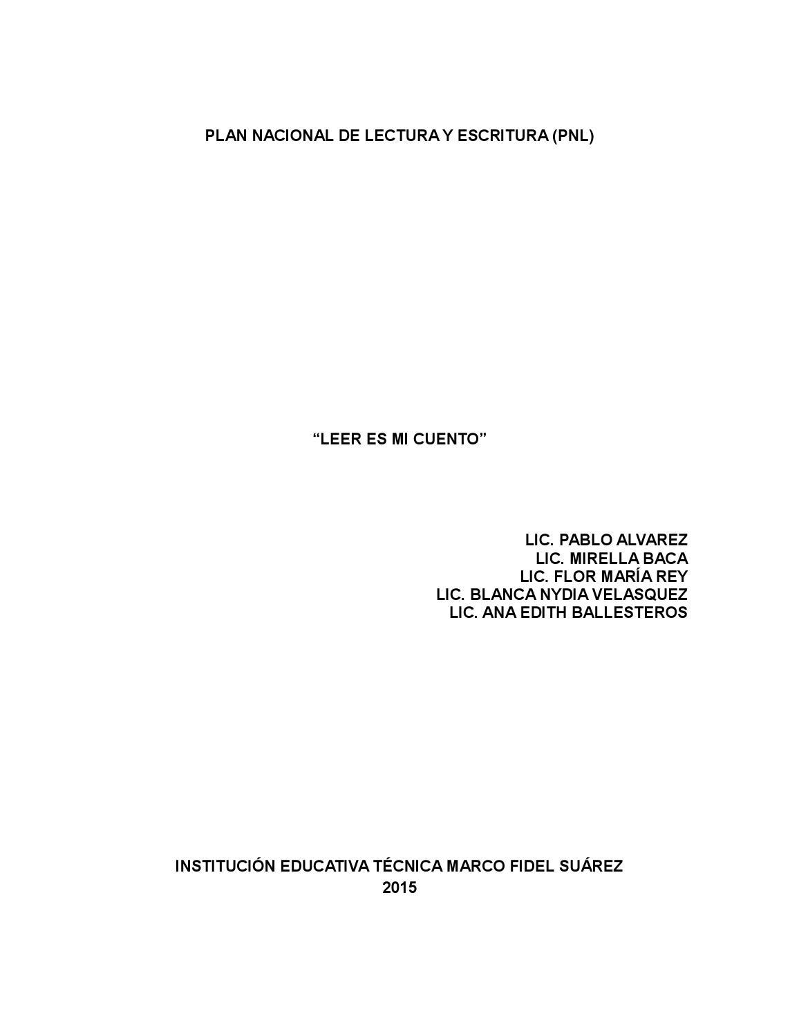 Proyecto pnl 2015 by Marco Fidel Suárez Villavicencio - issuu
