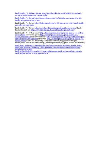 5d7e7c44ec5 Profit Insider Pro Review - Profit Insider Pro Software Review - Profit  Insider Pro System Review