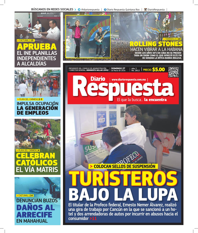 Diario Respuesta 27 de Marzo de 2016 by Diario Respuesta - issuu 870d3dc067b9
