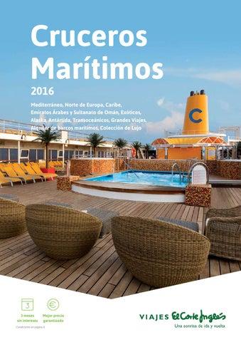 Viajes El Corte Inglés Cruceros Marítimos 2016 By André Gonçalves Issuu