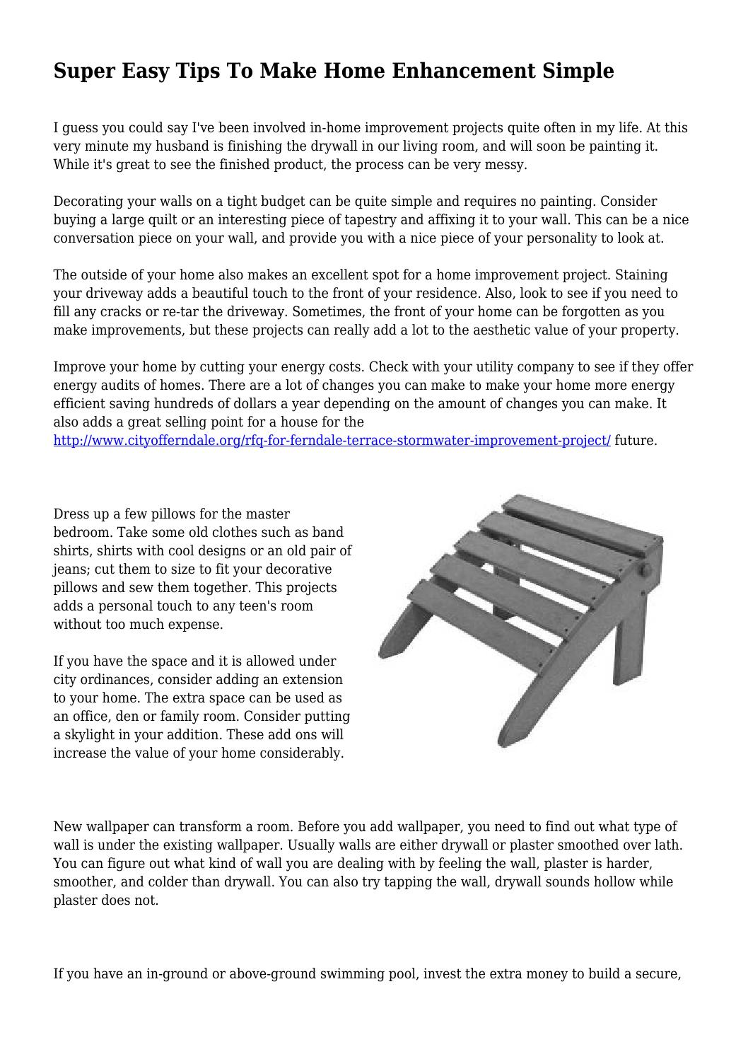 Super Super Easy Tips To Make Home Enhancement Simple By Ibusinesslaw Wood Chair Design Ideas Ibusinesslaworg