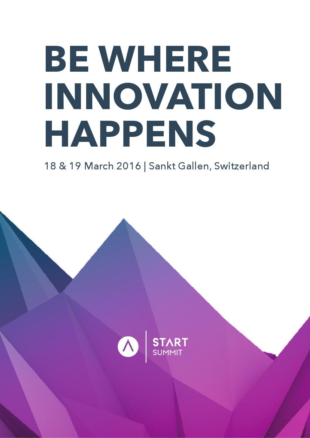 Start Summit 2016 - Be Where Innovation Happens