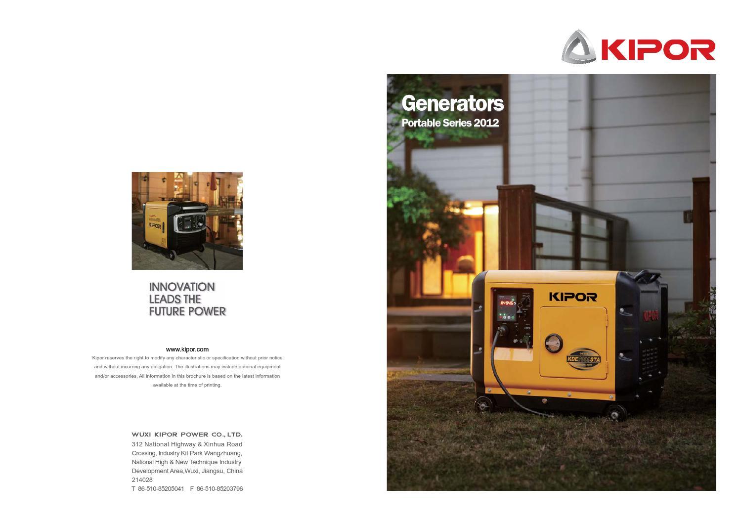 Kde12sta Kipor Generator Wiring Diagram Atlas Copco Portable Series By Www Powerfulproducts Nl Issuu Regulator