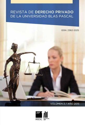 Revista De Derecho Privado By Universidad Blas Pascal Issuu