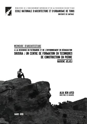 hassene jeljeli mémoire d architecture mars 2016 by hassene