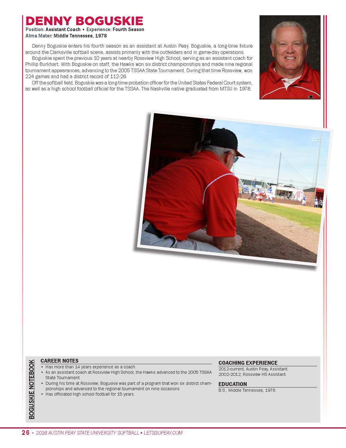 2016 Softball Media Guide by APSU Sports-Information - issuu