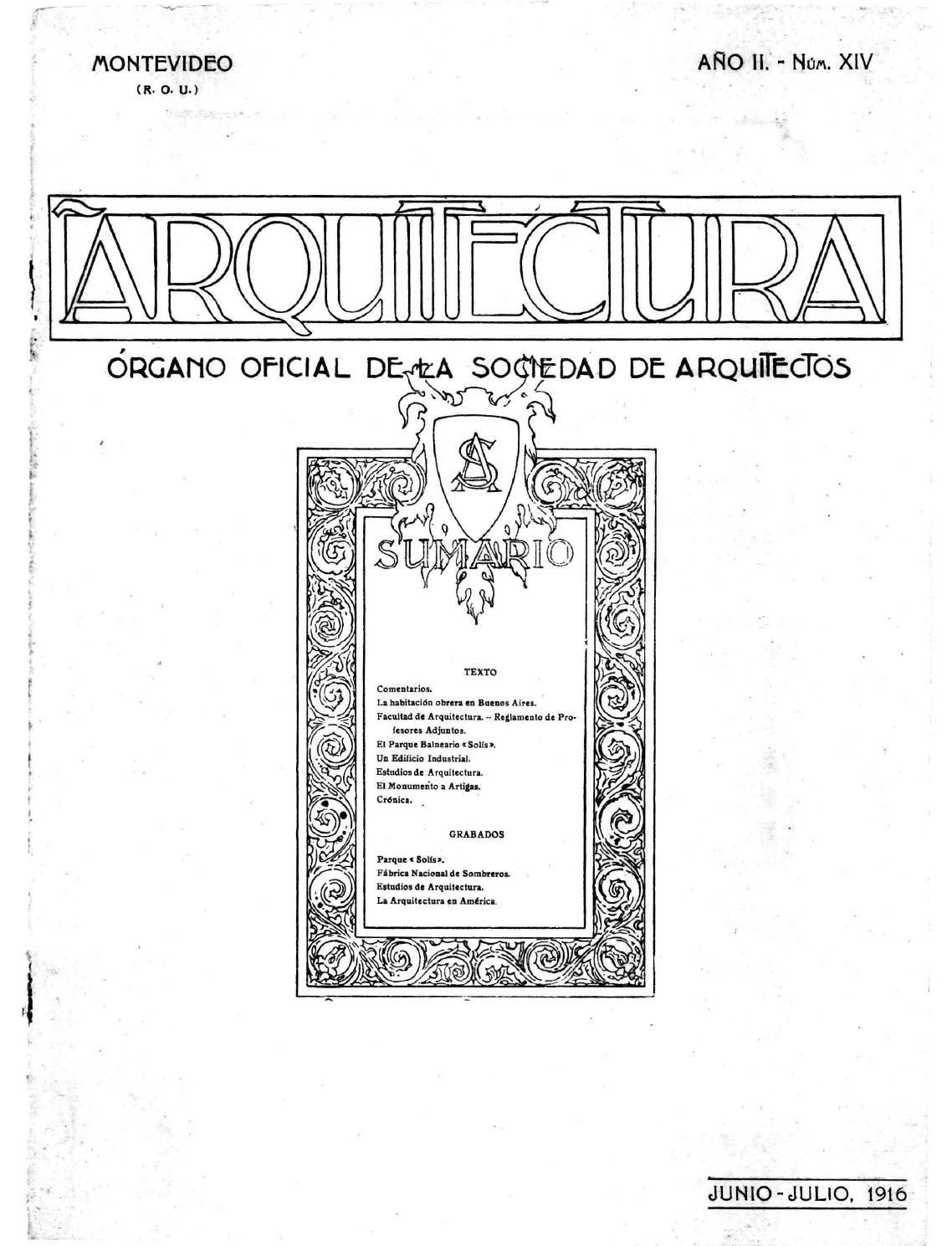Arquitectura 14 1916 by sociedad de arquitectos del - Sociedad de arquitectos ...