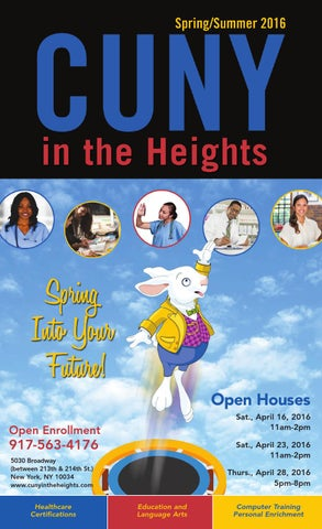 Spring/Summer 2016 CUNY in the Heights Catalog by Hostos Community ...