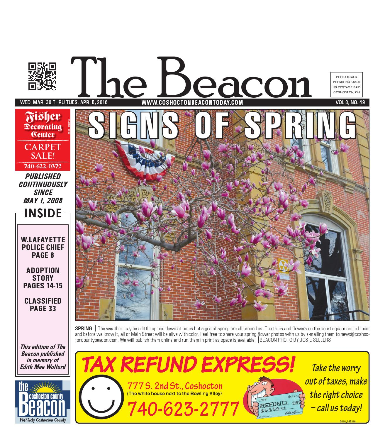 March 30 2016 Coshocton County Beacon By The