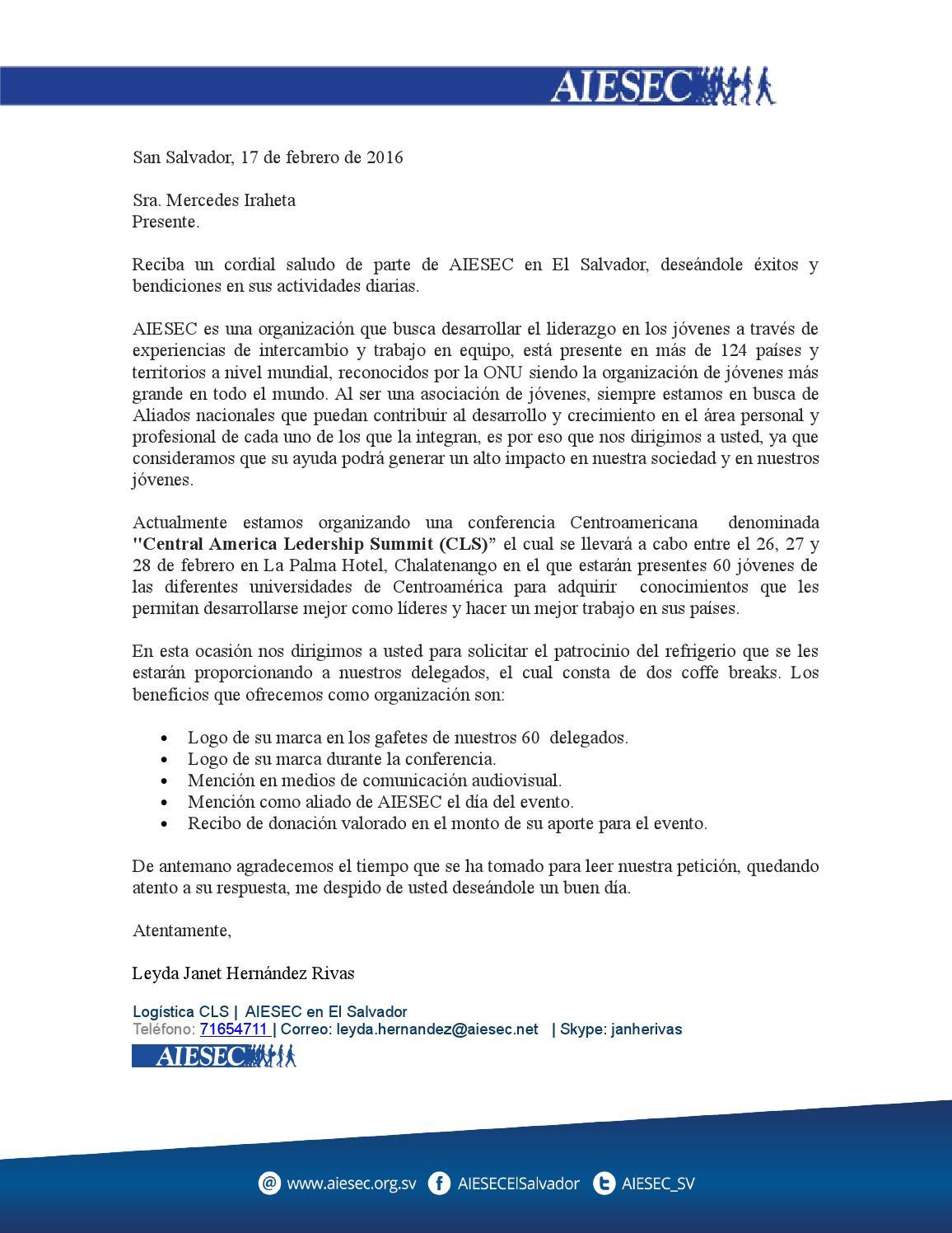 carta patrocinio by josue sanchez