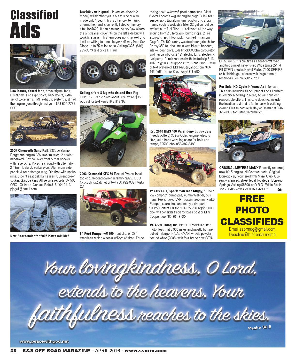S&S Off Road Magazine April 2016 by S&S Off Road Magazine - issuu